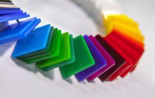 Plexiglas colorato