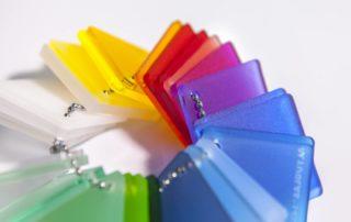 Plexiglas satinato colorato